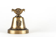 Hand bell. The souvenir brought from other country Stock Image
