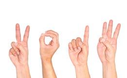 Hand benutzt als Symbol. Stockfoto