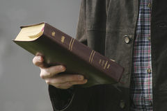 Hand and Bible Royalty Free Stock Photos