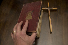 Hand & Bible Stock Image
