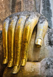 Hand of big buddha Royalty Free Stock Image