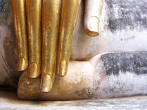 Hand of big buddha Royalty Free Stock Images