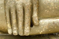 Hand of big Budha Stock Images