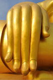 Hand of the Biggest Buddha. In Thailand stock photo