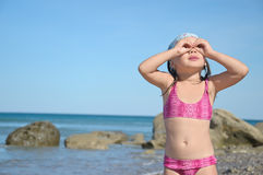 Hand binocular Stock Images
