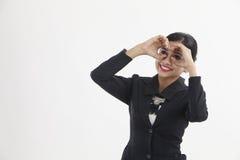 Hand binocular Royalty Free Stock Images