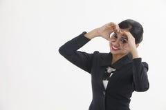 Hand binocular Royalty Free Stock Photo