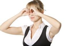 Hand binoculars Stock Photos
