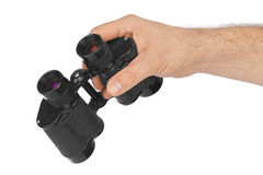 Hand with binoculars Stock Images