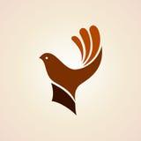 Hand with bird. creative idea Stock Photo