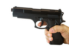 Hand with black gun Royalty Free Stock Photo