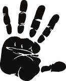 Hand, Black And White, Finger, Silhouette Royalty Free Stock Photo
