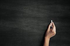 Hand on a blackboard Royalty Free Stock Photo