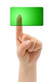 Hand and blank button Royalty Free Stock Image