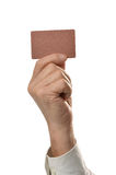 Hand with blank Royalty Free Stock Photo