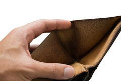 Hand blank wallet, isolated Stock Image