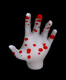 Hand Of Blood. Pale hand covered in human blood Royalty Free Stock Images