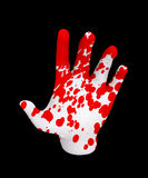 Hand Of Blood. Pale hand covered in human blood Royalty Free Stock Photography