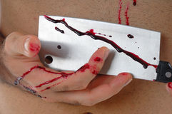 Hand with blood Royalty Free Stock Photo