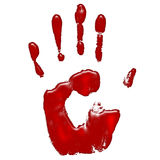 Hand of blood. For use blood donation marketing or something else Stock Photos