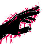 Hand in blood. Abstraction,  illustration Royalty Free Stock Photography