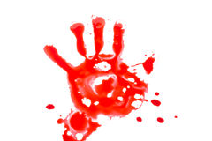 Hand with blood Royalty Free Stock Images