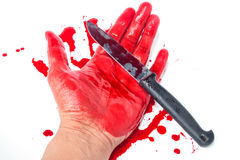 Hand with blood Stock Image