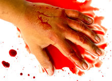 Hand in blood Royalty Free Stock Photography