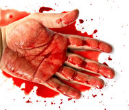 Hand in blood Stock Images