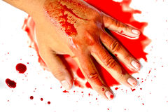 Hand in blood Royalty Free Stock Photos