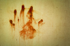 Hand bloodstains Stock Image