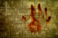 Hand bloodstains Royalty Free Stock Photos