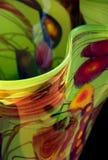 Hand-blown Vase. Beautiful graceful edge of hand-blown vase stock photos