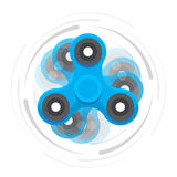 Hand blue spinner in motion Royalty Free Stock Image