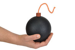 Hand with Bomb Stock Image