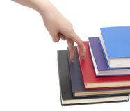 Hand and book Royalty Free Stock Images