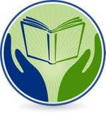 Hand book logo Royalty Free Stock Photography
