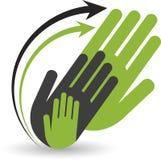 Hand book logo Stock Image