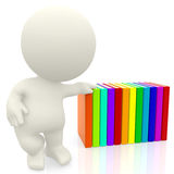 Hand on books Royalty Free Stock Images