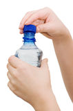 Hand with bottle of water Royalty Free Stock Photo