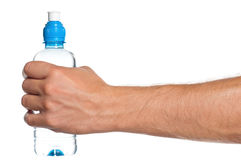 Hand with bottle of water Stock Image