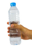 Hand with bottle Royalty Free Stock Images