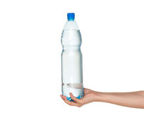 Hand with bottle of water Stock Photo
