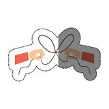 Hand and bowtie rope design. Hand and bowtie rope icon. Cord string cable and knot theme. Isolated design. Vector illustration Royalty Free Stock Image
