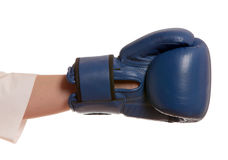 Hand in boxing glove Stock Photography