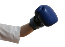 Hand in boxing glove Royalty Free Stock Photo