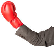 Hand with boxing glove Stock Photography