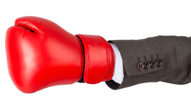 Hand with boxing glove Royalty Free Stock Images