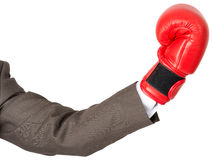 Hand with boxing glove Royalty Free Stock Image