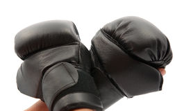 Hand with boxing gloves Royalty Free Stock Image
